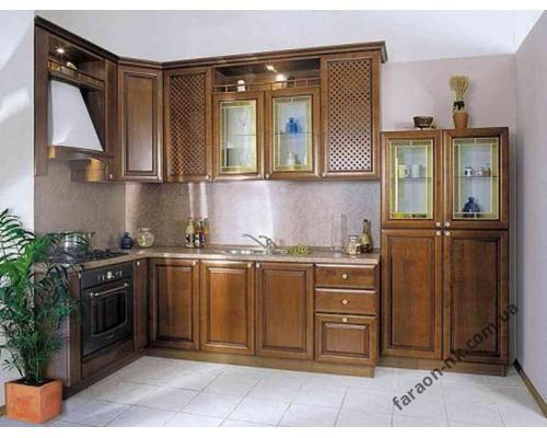 Кухня из массива дерева №12