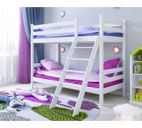 Двухъярусная кровать для спальни из дерева – «Солнышко»