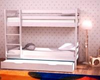 Двухъярусная кровать из березы - «Снежинка»