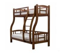 Двухъярусная кровать из дерева - «Алиса»