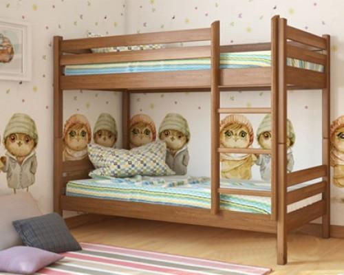 Двухъярусная кровать из дерева березы – «Сонечко»
