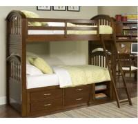 Двухъярусная кровать из дерева дуба - «Чарли»
