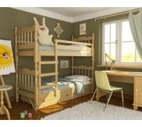 Двухъярусная кровать из дерева ольхи - «Эмми»
