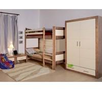 Двухъярусная кровать из дуба - «Фея»