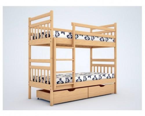 Двухъярусная кровать из ольхи – «Мальвина»