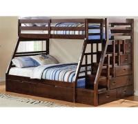 Двухъярусная кровать из дерева ясеня Люкс