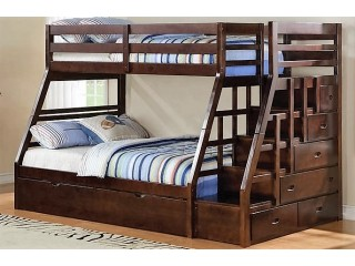 Детская Двухъярусная Кровать Из Ясеня №1