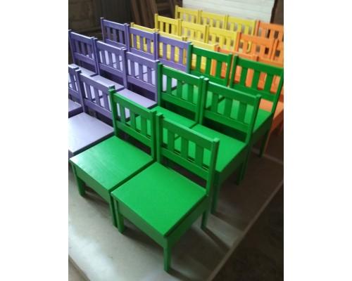 Детские стулья из массива ольхи