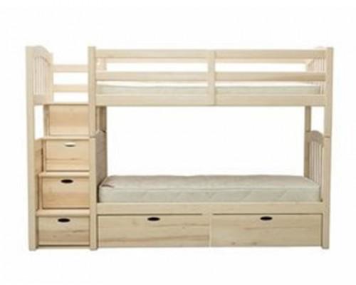 Кровать чердак из дерева клена - «Катя»
