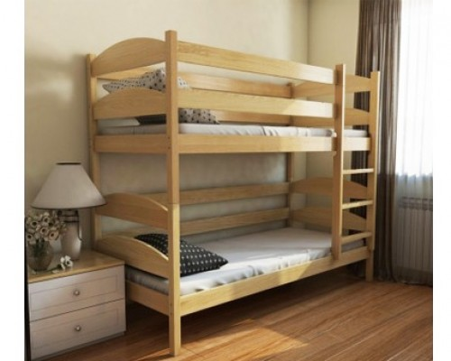 Кровать чердак из дерева ольхи – «Конфетти»