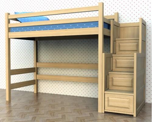 Кровать чердак из массива - «Томас»
