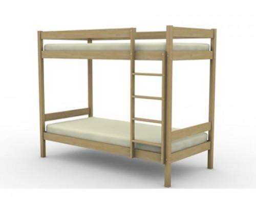 Кровать чердак из массива березы - «Купе»