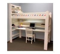 Кровать чердак из массива дерева «Малыш»