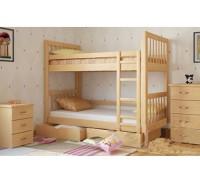 Кровать чердак из массива дуба «Ассоль»