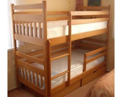 Кровать чердак из массива ясеня - «Сэмми»