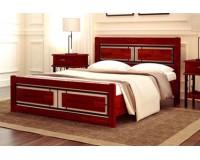Кровать из дерева с изголовьем – «Веста»