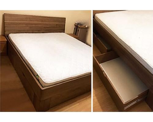 Кровать из ясеня с ящиками – «Соната»