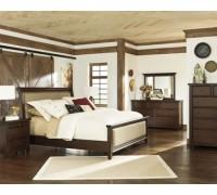 Мягкая кровать из дерева ольхи - «Эвита»