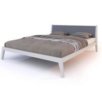 Мягкая кровать из дерева ясеня - «Лиссабон»