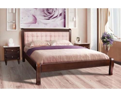 Мягкая кровать из дуба - «Леон»