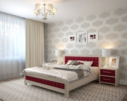 Мягкая кровать из клена - «Вена»