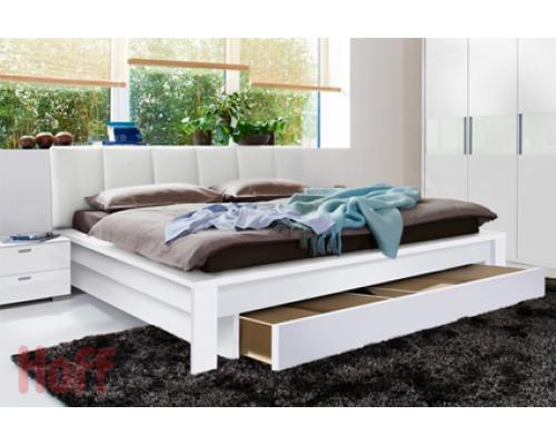 Мягкая кровать из массива дерева - «Хелена»