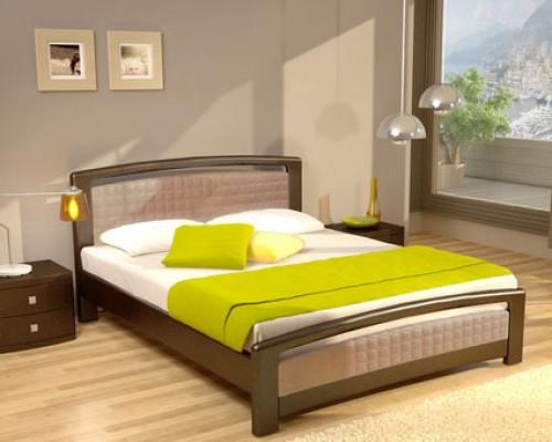 Мягкая кровать из массива дуба - «Марсель»