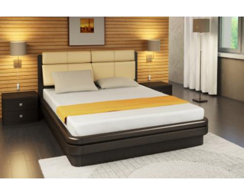Мягкая кровать из натурального дерева - «Вегас»