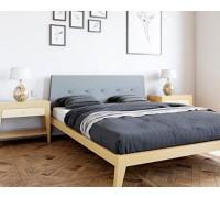 Мягкая кровать из ольхи - «Денвер»