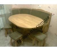 Стол из материала дерева дуба