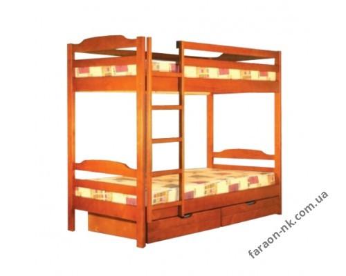 Кровать двухъярусная с ящиками К2
