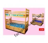 Кровать двухъярусная с ящиками Л 16