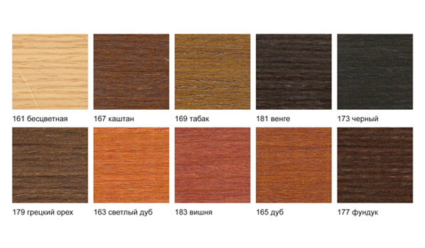 Цветовая гамма Деревянной мебели