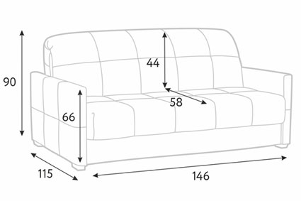 Размеры дивана для дома