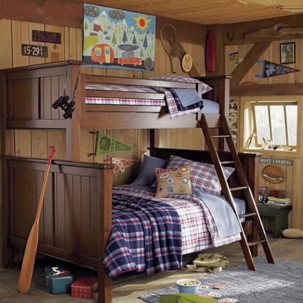 Деревянные двухъярусные кровати в Скандинавском стиле