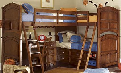Деревянные двухъярусные кровати в стиле Модерн