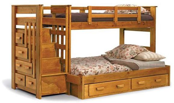 Деревянные двухъярусные кровати вид дерева