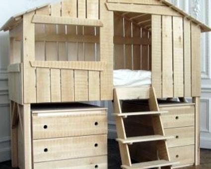 кровать чердак с шкафом