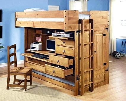 кровать чердак с столом