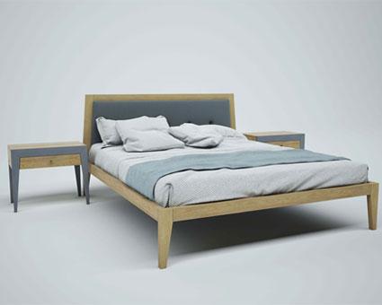 Мягкая кровать из ольхи