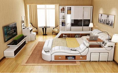 кровать с массажным креслом