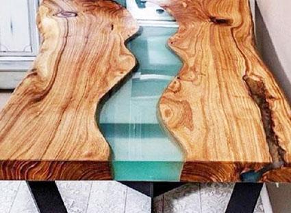 Стол дизайнерский из дуба