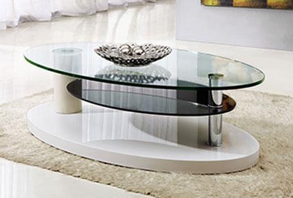 Стол комбнированный стекло и дерево