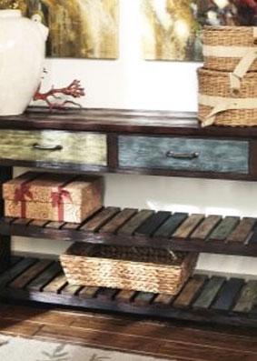 Стол консольный с ящиками