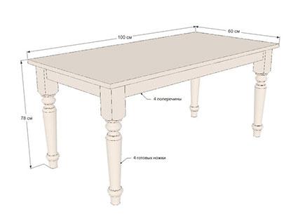 Конструкция деревянного стола