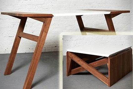 Стол деревянный с механизмом трансформации